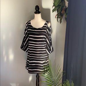 Express cold shoulder dress